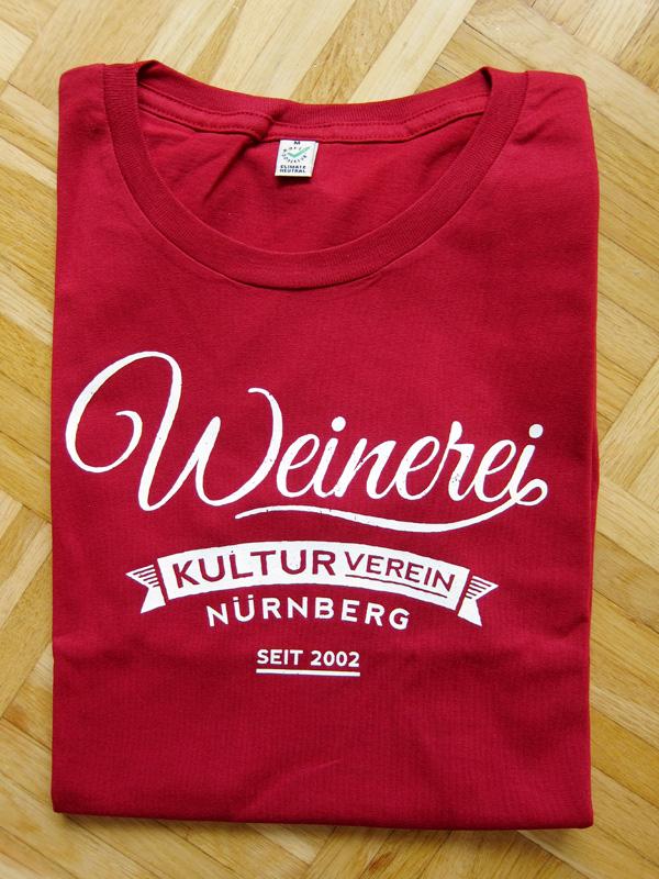 Weinerei-Tshirt-rot